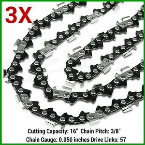 3x chainsaw chain 91pj057x 38lp 050 57dl for ryobi electric image is loading 3x chainsaw chain 91pj057x 3 8lp 050 57dl keyboard keysfo Gallery
