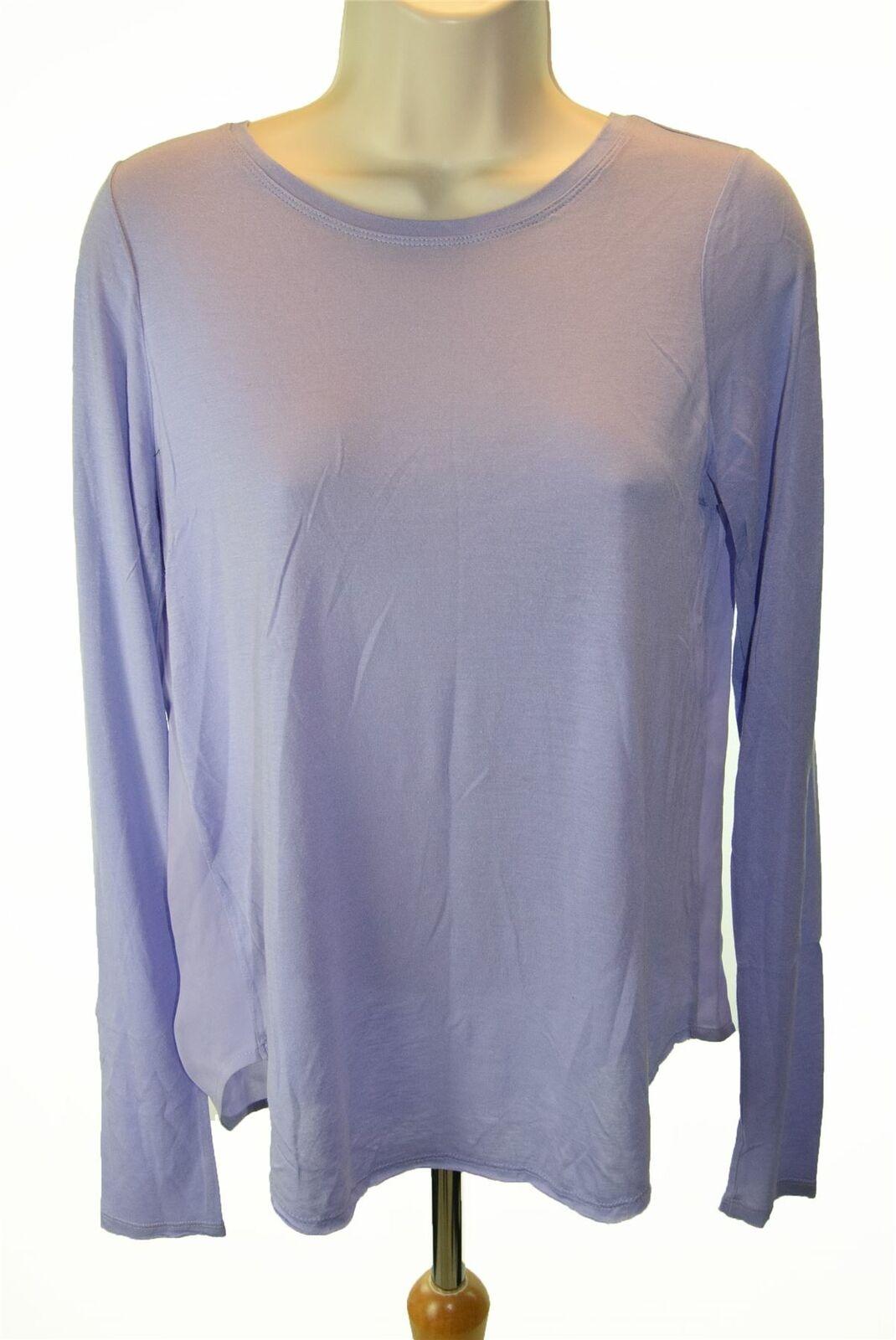 VINCE Purple Long Sleeve Top, Size XS