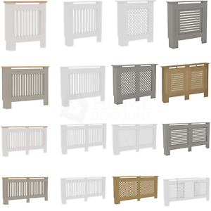 Radiator cover Oxford inachevée Blanc MDF bois traditionnel grill Extra Large