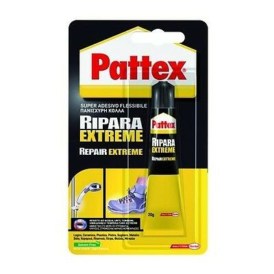 Pattex Ripara Extreme Super Adesivo Flessibile Colla Tutti i Materiali 20g nuovo