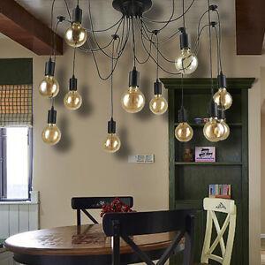 Image Is Loading Vintage Multiple Ajustable DIY Ceiling Spider Lamp Light