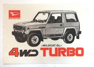 Promotional Stickers Daihatsu Wildcat Gl 4WD Turbo Diesel Rocky 80er Classic Car