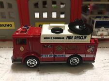 MATCHBOX FIRE RESCUE MOBILE COMMAND MACK UTILITY  KITBASH CUSTOM UNIT