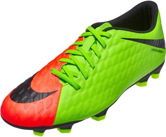 48fc8c00b052 NEW Nike Hypervenom Phade III FG Men Green Soccer Cleats Shoe 852547-308 SZ  11