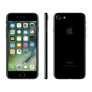 Apple iPhone 7 128GB Verizon + GSM Unlocked Smartphone AT&T T-Mobile - Jet Black