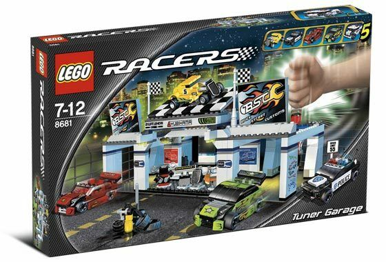 Lego 8681 Racers Tuner Garage City Drag Street Racing Nuovo Sealed