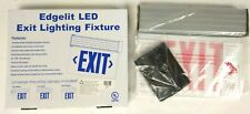 Edge Lit Red Led Exit Sign Surface Mount Adjustable Angle Red Letters