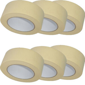 LOW-TACK-MASKING-TAPE-50MM-X-50M-PAINT-PAINTING-MASK-DECORATE-Multi-Surface-Use