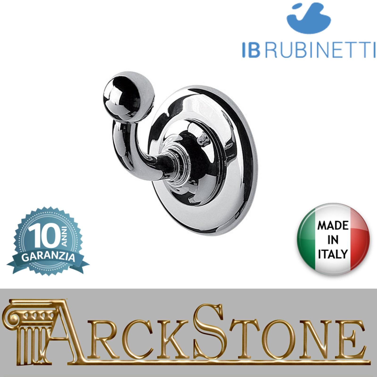 Porta Porta Porta abiti a parete in ottone cromato IB Rubinetti Hermes accessori bagno cromo 6ed2bb