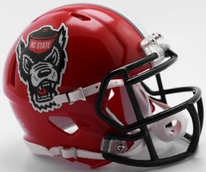 NORTH CAROLINA STATE WOLFPACK NC STATE NCAA Riddell SPEED Mini Football Helmet