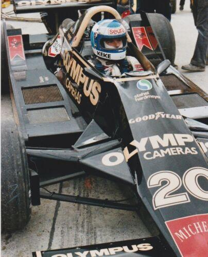 KEKE ROSBERG Olympus Cameras Wolf Racing WATKINS GLEN F1 8 X 10 PHOTO