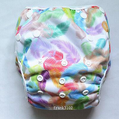 Feather Swim Diaper Nappy Pants Adjuatable Reusable Infant Baby Boy Girl Toddler