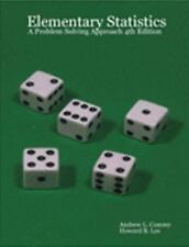 Elementary Statistics: a Problem Solving Approach 4th Edition
