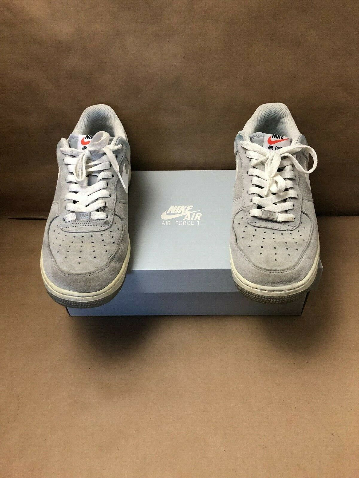 finest selection 7027c 92b96 Nike Air Force 1 Suede Pack Wolf Grey White 488298-065 Sz 10 for sale  online   eBay