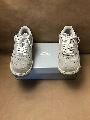 065 10 Grey Force 488298 Pack Wolf Air Suede Nike 1 Sz White tQshdr