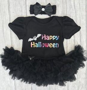 Baby Girl Happy Halloween Chauve-souris Noir Tutu Ange Robe Costume Robe Fantaisie Cadeau-afficher Le Titre D'origine PréVenir Le Grisonnement Des Cheveux Et Aider à Conserver Le Teint