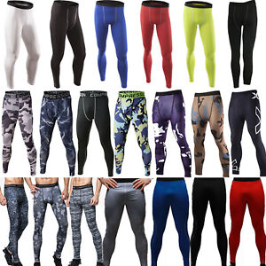 Men-Compression-Trousers-Base-Under-Layer-Pants-Long-Leggings-Sports-GYM-Workout