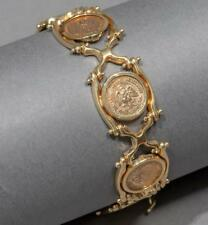 Rare Deco Styled Mexican Gold Coin Bracelet