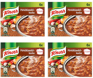 Details about 4 X Knorr Hungarian Stew Stock Cube 4x60g/4x2 11oz /24 Cubes/  FREE SHIPPING