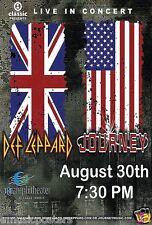 DEF LEPPARD/JOURNEY 2006 PORTLAND CONCERT TOUR POSTER -UK & US Flags Above Logos