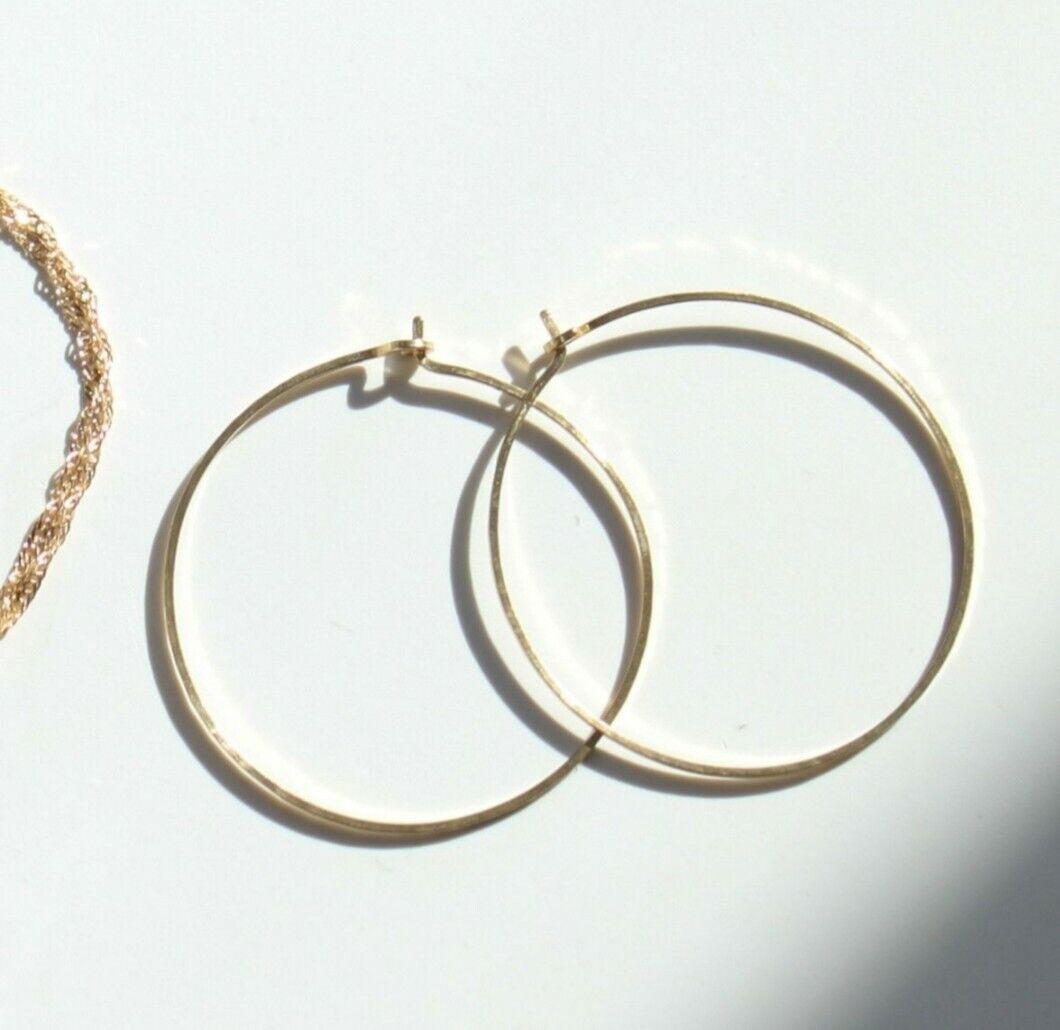 Catbirds big hoop dream earrings , yellow gold 30 mm