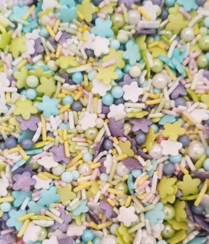 50g Purple Lime Mermaid Mix Cupcake Cake Sprinkles Topper Party Girls Birthday
