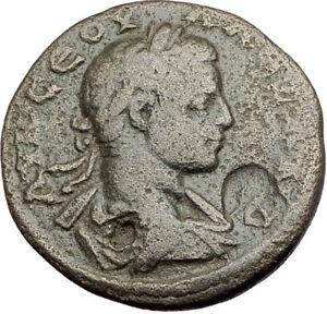 SEVERUS-ALEXANDER-225AD-Caesarea-Cappadocia-Ancient-Roman-Coin-MOUNT-Arg-i65143