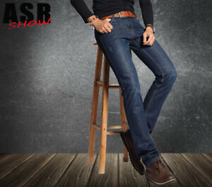 Fashion Men S 2018 Winter Flannel Jeans For Men Casual Straight Wool