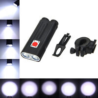 Rechargeable 2x Xml T6 Led Bicycle Light Torch Flashlight Work Lamp Battery+ch C