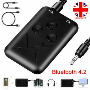 Wireless-Bluetooth-Transmitter-Receiver-2-in-1-Stereo-AUX-Audio-Music-Adapter-UK