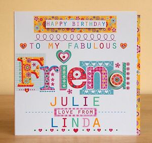 Image Is Loading Friend Birthday Card Personalised Special Lovely
