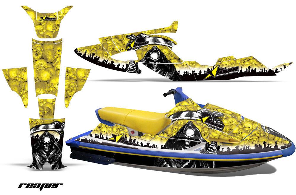 Jet Wave Ski Grafik Kit Pwc Aufkleber für Yamaha Wave Jet Raider 1994-1996 Reaper Yllw 6ef3cd
