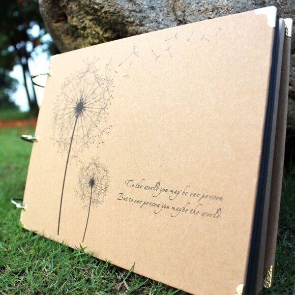 """Dandelion"" 1pc Photo Picture Album DIY Travel Baby Mommy Book Wedding Polaroid"