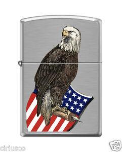 Historique Vieux ABE Américain Guerre Aigle Et Drapeau Shield Patriotique Zippo