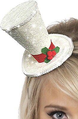 Damen Glitzer Stechpalmen Weihnachten Party Kostüm Outfit Mini Hut Im Sommer KüHl Und Im Winter Warm