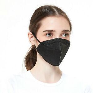 Masques de protection en tissu FFP II Masques faciaux FRANCE certifié CE noir FR