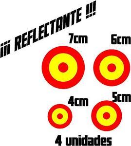 1050-4-x-Vinilo-pegatina-bandera-de-Espana-REFLECTANTE-Escarapela-coche-moto