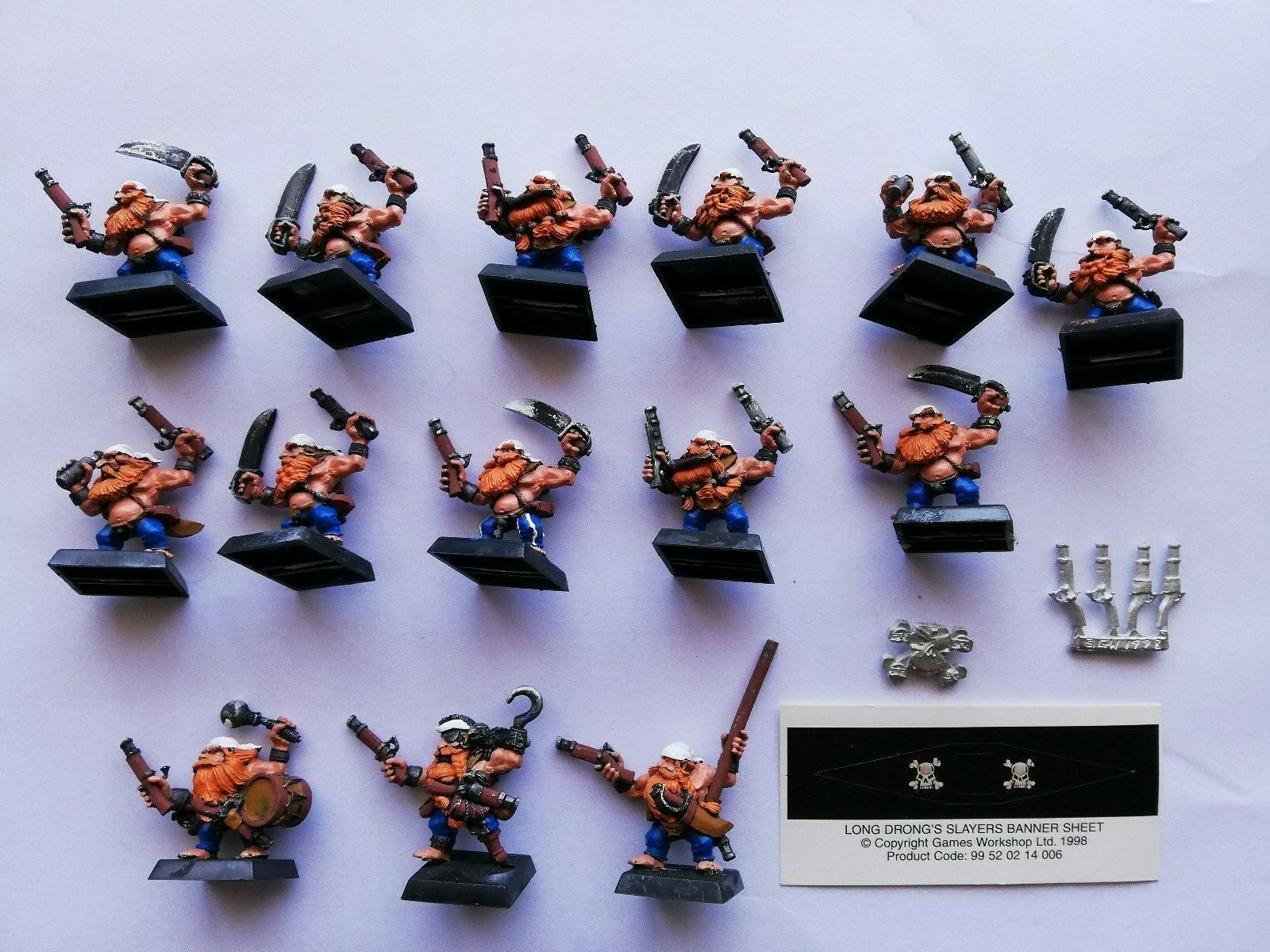 WARHAMMER - LONG DRONG PIRATE SLAYERS - REGIMENT OF REKNOWN 1998 - LARGE LOT
