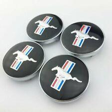 4pcs For Ford Mustang Horse Wheel Rim Center Hub Caps Clips 268 68mm Black
