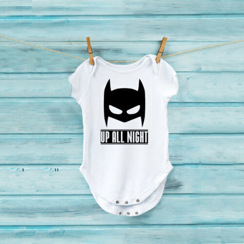 Baby Bodysuit Baby Shower Gift Batman Up All Night Baby Onesie