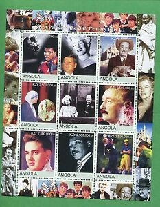 Great People of the 20th Century Part III Souvenir Stamps Sheet MNH Angola E17
