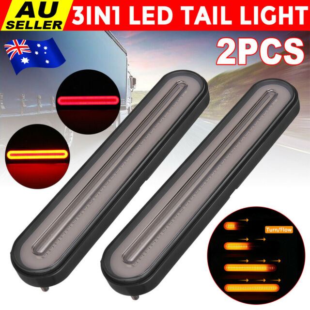 2PCS 100 LED Trailer Tail Lights Halo Neon Stop Flowing Turn Signal Indicator AU
