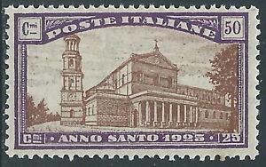 1924-REGNO-ANNO-SANTO-50-CENT-MNH-I55-6