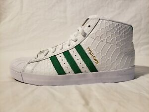 Details about Adidas Originals Pro Model Vulc Adv White Green Tyshawn Jones Skater of the Year