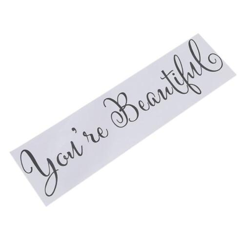 Quote You/'re Beautiful Art Vinyl Decal Removable Wall Sticker Mural Home Decor G