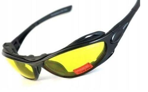 Brille Nachtsichtbrille Radbrille Nachtbrille gelbe Gläser Wechselgläser Sonnenb Radbrillen