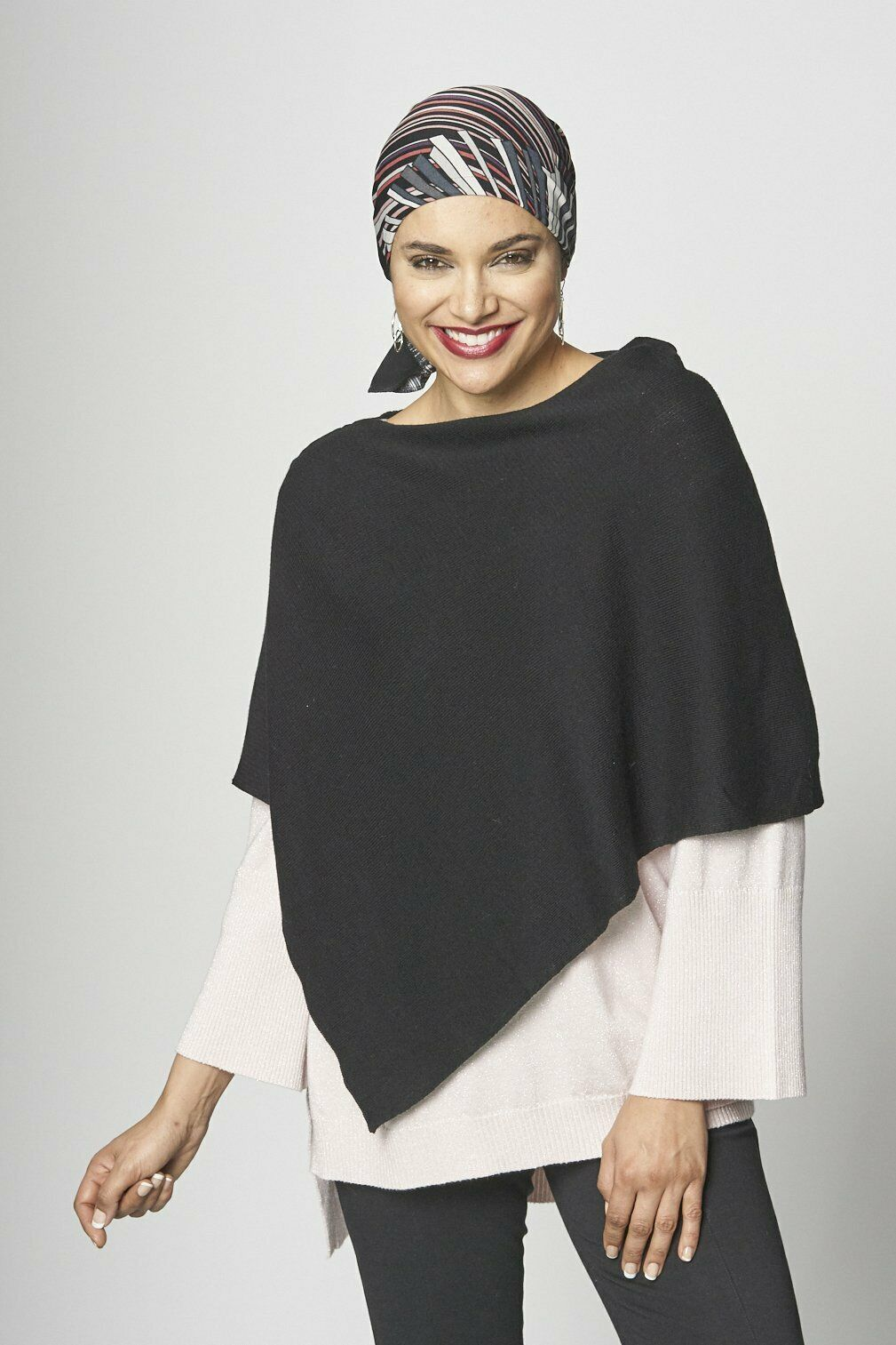 Women Parkhurs Solid Capri Poncho Cotton/Blend one size fits all made in Canada