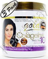 Collagen Colageno Colageina 10 Gold (195 Gr) Hydrolyzed - 100% Original (3-pack)