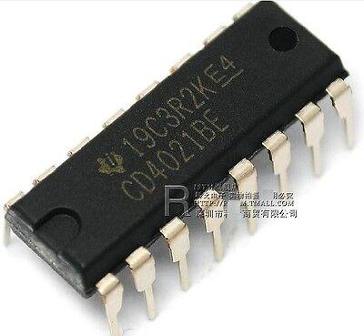 3Pcs CD4021 HCF//CD4021BE 8-Stage Static DIP-16 Shift Register Ic New ew