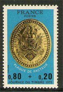TIMBRE-1838-NEUF-XX-LUXE-PLAQUE-DE-FACTEUR-DE-PARIS-SOUS-LA-2-EME-REPUBLIQUE